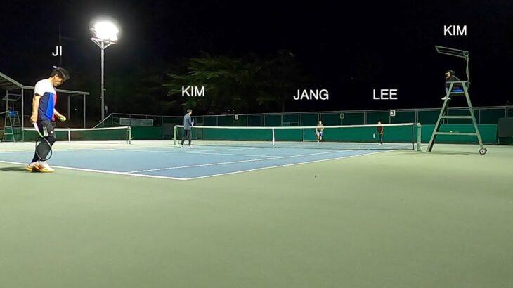 Friendly tennis match  |  친선 테니스 경기  |  親善テニスの試合