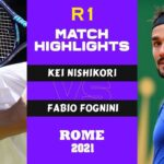 錦織圭 (Kei Nishikori) v Fabio Fognini (R1) Highlights INTERNAZIONALI BNL D'ITALIA ROME 2021(FULLMATCH)