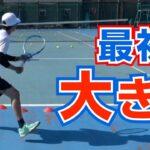 【テニスの球出しドリル3】横に動いて打つ