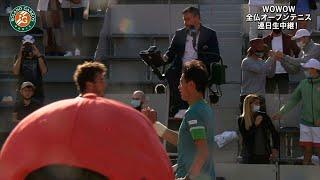 【マッチハイライト】錦織 圭 vs アレッサンドロ・ジャンネッシ/全仏オープンテニス2021 1回戦【WOWOW】