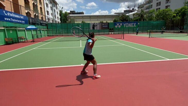 【硬式テニス】11歳女子 24歳青年とゲーム形式 2021/5/29 [tennis] 11-year-old girl, 24-year-old youth and match practice