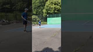 【卓球人】がテニスする時に1番苦戦する技術❗❗【テニスサーブ】(tabletennis→tennis)#Shorts