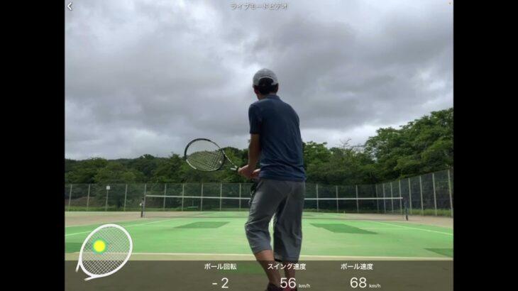 #2 テニス練習。SONYスマートセンサー。全仏2021ジョコビッチvsムゼッティ
