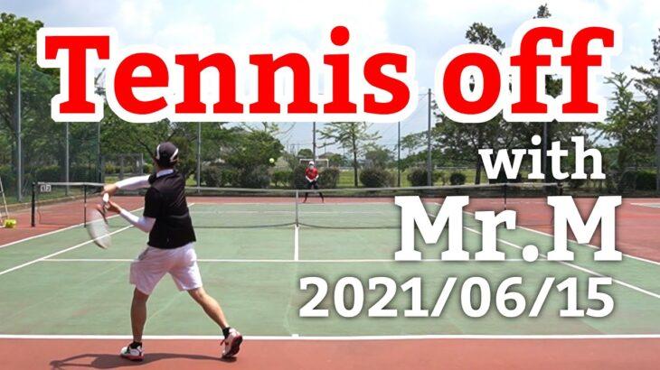 テニスオフ 2021/06/15 シングルス 中級前後 Tennis with Mr.M Men's Singles Practice Match Full HD