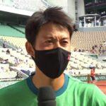 錦織 圭インタビュー(2回戦終了後コートサイド)/全仏オープンテニス2021【WOWOW】
