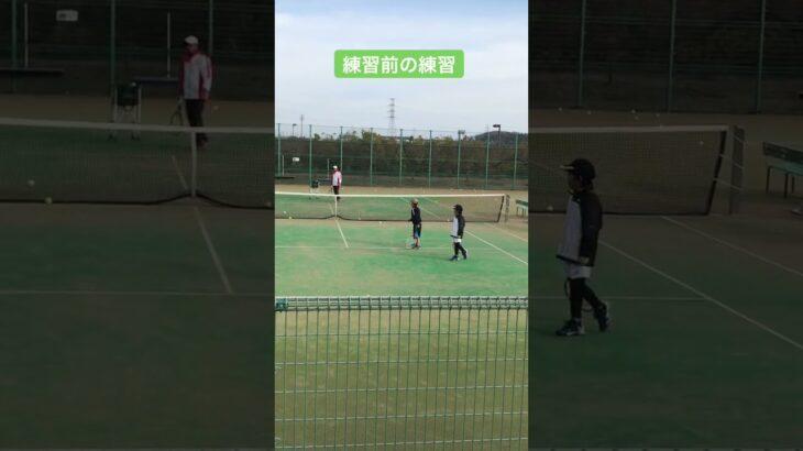 2/27 朝練 練習前の練習 #テニス #tennis #練習動画 #子供のいる暮らし