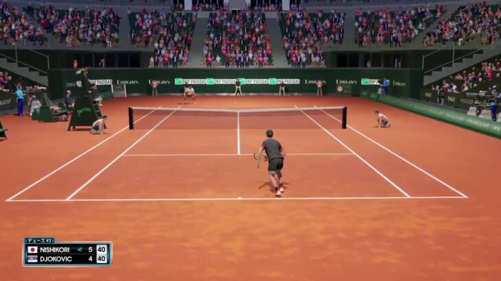 【AOテニス2】全仏ドリームマッチ!ジョコビッチ v 錦織圭