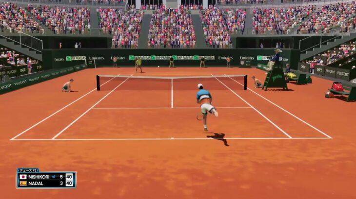 【AOテニス2】全仏でナダルにスライスだけで挑んでみた! v 錦織圭