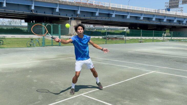 【テニス】外人同士の超速いボレーボレー【あるある】Fastest volley practice【tennis】