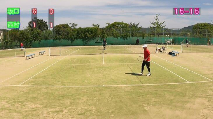 【テニス】JAPAN TENNIS TOUR2021関西オープンベテランテニス45歳以上男子シングルス3回戦 坂口VS西村