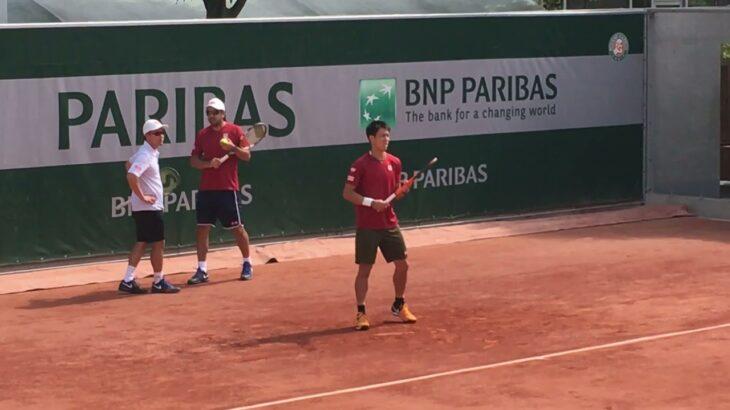 Kei Nishikori practice 【Roland Garros 2017】