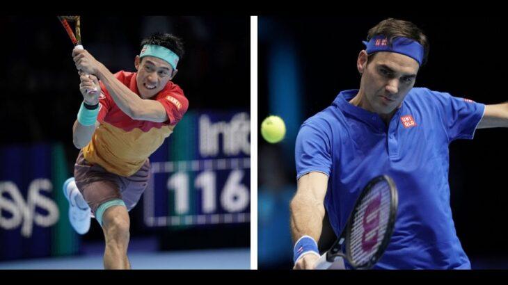 錦織 Nishikori VS  ロジャー・フェデラー Federer テニス