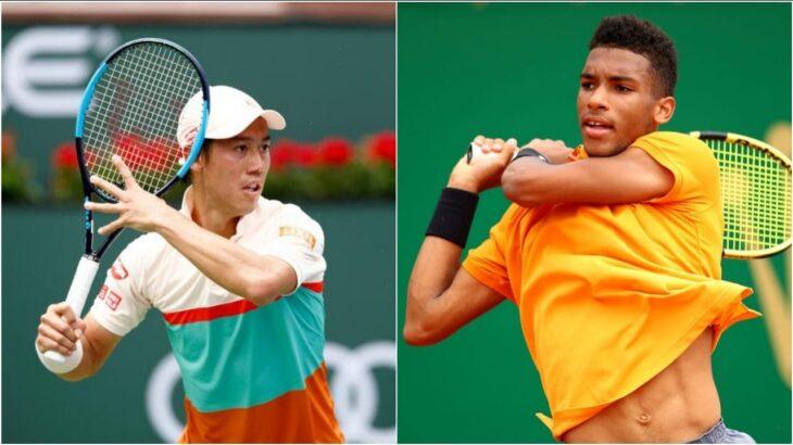 錦織 圭 Nishikori vs FelixAuger-Aliassime フェリックス・オジェ アリアシム テニス