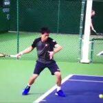 テニス One Point Lesson in Tennis ほとんどのプロテニスプレーヤーはするけれども、多くの一般プレーヤーはしない、動き、フォーム その1