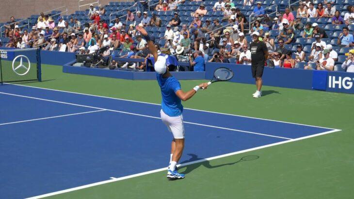 Slow Motion  Tennis serve ジョコビッチ サーブ