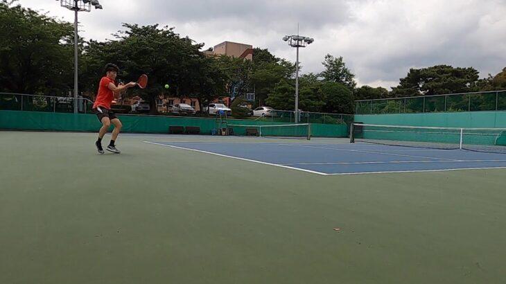 Sweaty tennis  |  땀 테니스  |  汗だくのテニス