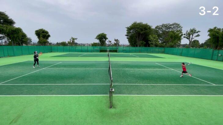 子供テニス ー5歳児と母の仁義ある戦い  -kids tennis tiebreak match