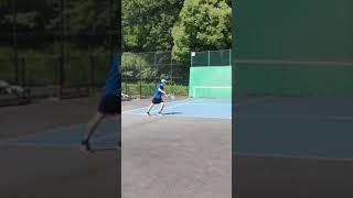 【悲惨😂】今はまだ世界一下手くそなテニススピンサーブ❗(笑)【テニスサーブ】(tennis)#Shorts