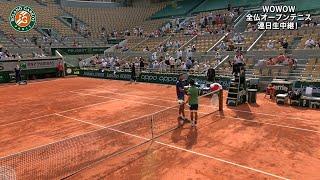 【マッチハイライト】カレン・ハチャノフ vs 錦織 圭/全仏オープンテニス2021 2回戦【WOWOW】