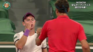 【マッチハイライト】ドミニク・コプファー vs ロジャー・フェデラー/全仏オープンテニス2021 3回戦【WOWOW】
