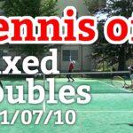 テニスオフ 2021/07/10 ミックスダブルス 中級前後 Tennis Mixed Doubles Practice Match Full HD