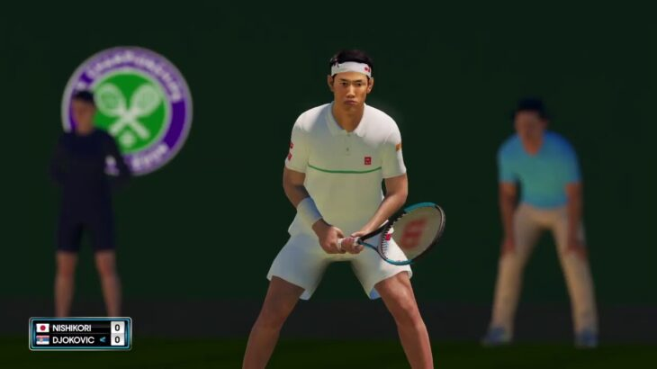 【AOテニス2】ジョコビッチ v 錦織圭 – ウィンブルドン