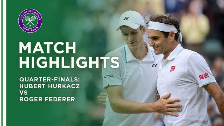 Hubert Hurkacz vs Roger Federer   Quarter-Final Highlights   Wimbledon 2021