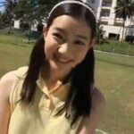 足立梨花テニスをする!She play tennis. Rika Adachi