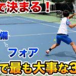 【テニス/TENNIS】勝負はコレで決まる!試合で最も大事な3球目!