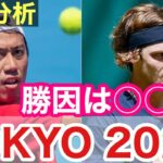 錦織圭VSルブレフ 勝因について徹底分析 東京オリンピック2020 テニス男子シングルス