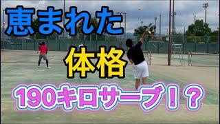 【tennis/ダブルス】恵まれた体格〜時速190キロサーブ〜【MSKテニス】50