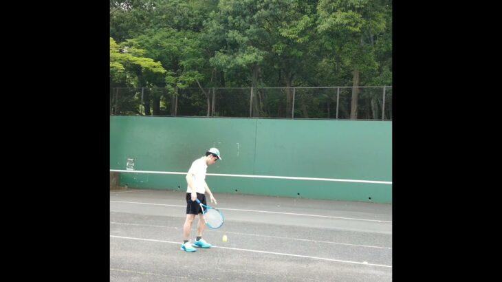 【卓球→テニスあるある】卓球人がテニスした時、サーブ難しい……..(tennis)#Shorts