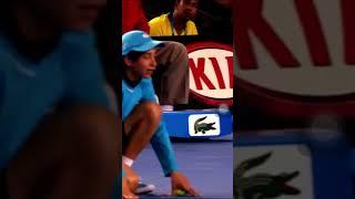海外 神業 テニス ボールボーイ フェデラー