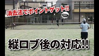 【引き算テニス】縦ロブ返球された後の対処法!