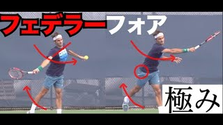 【テニスの神】フェデラーフォアハンドを徹底分析エクストリーム!前編