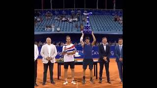 18 year old young man wins first ATP title.       Tennis 網球 テニス  网球