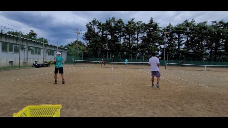【テニス】ボレスト①全日本ベテランテニス練 湘南ローン202108 tennis