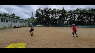 【テニス】ストローク②全日本ベテランテニス練 湘南ローン202108 tennis