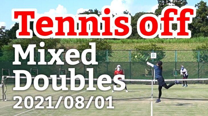 テニスオフ 2021/08/01 ミックスダブルス 中級前後 Tennis Mixed Doubles Practice Match Full HD