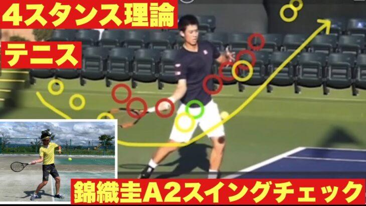 【4スタンス理論】テニス 錦織圭A2スイングチェックと比較