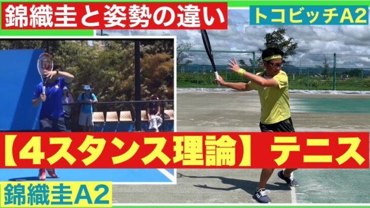 【4スタンス理論】テニス 錦織圭A2との違い 永井・トコビッチ