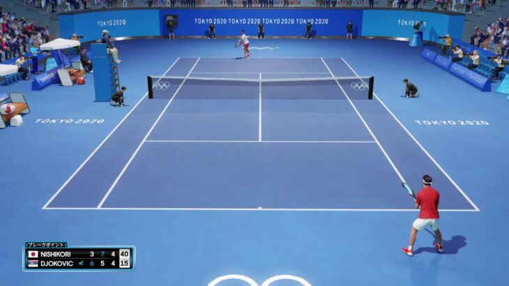 【AOテニス2】錦織圭 v ジョコビッチ – 東京オリンピック2020