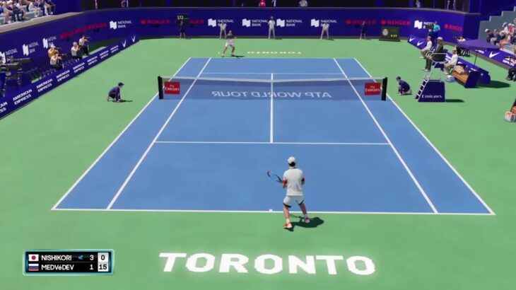 【AOテニス2】錦織圭 v メドベージェフ – トロント2021