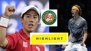 Alexander Zverev vs Kei Nishikori 錦織 圭 Highlights RG 2021