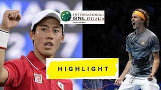 Alexander Zverev vs Kei Nishikori 錦織圭 Highlights Roma 2021