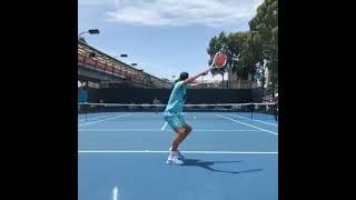 Dominic Thiem Practice.  網球 Tennis テニス 网球