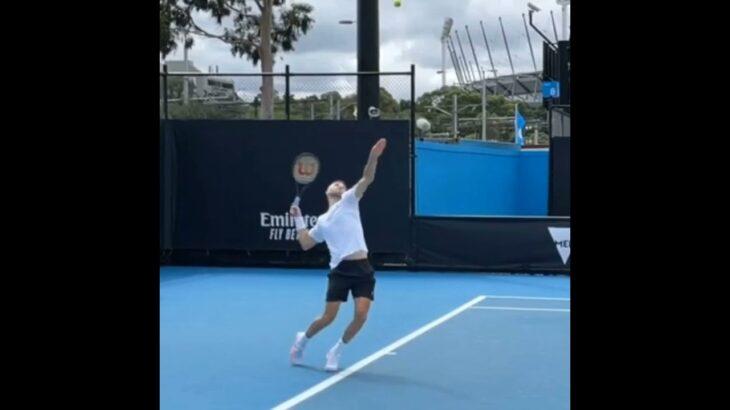 Grigor Dimitrov Serve Normal & Slow Motion.     Tennis  網球 テニス  网球