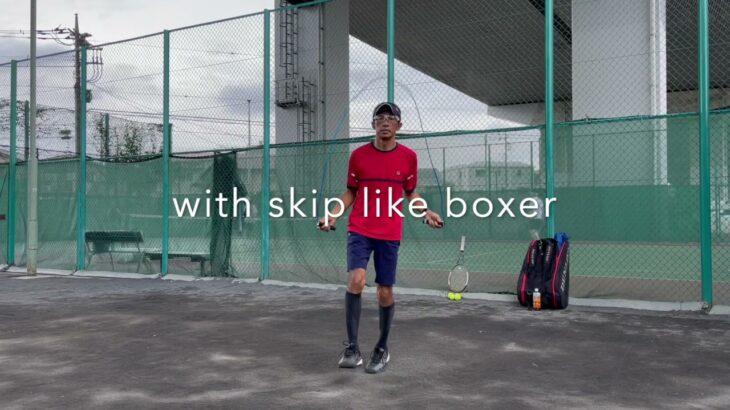 テニス、縄跳びのすすめ★Jump-rope for tennis!