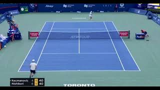 Kei Nishikori 錦織圭 vs Miomir Kecmanovic Highlights | Atp Toronto 2021