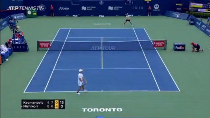 Kei Nishikori 錦織圭 vs Miomir Kecmanovic Highlights Toronto 2021 – Rogers Cup トロント2021